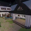 The garden of Japanese Style house by Minecraft